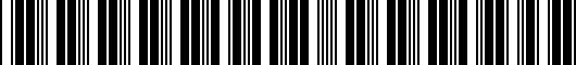 Barcode for 000096300021