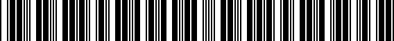 Barcode for 00A096304B021