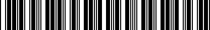 Barcode for 80A065402