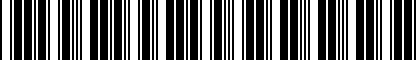 Barcode for 80A087000