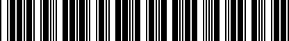 Barcode for 80A096325