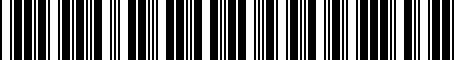 Barcode for 8R0063827H