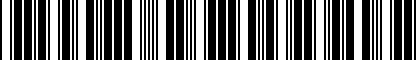 Barcode for 8V3075116