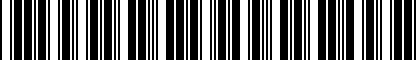 Barcode for 8X0019409