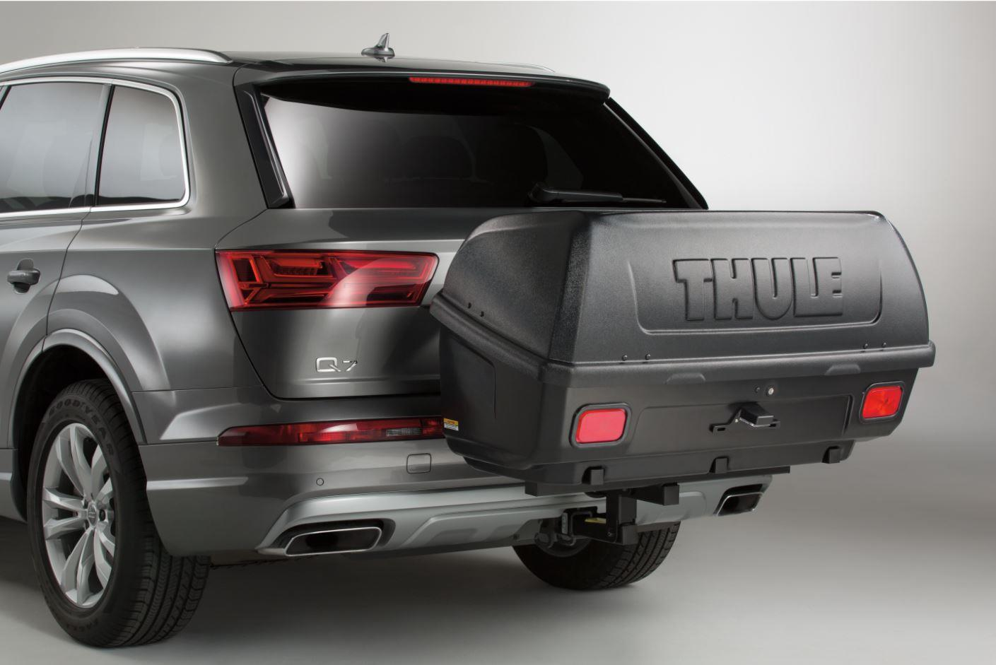 Audi Q7 Thule 174 Transporter Hitch Mounted Cargo Box 665c
